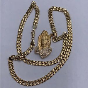 chain and pendant, gold plated